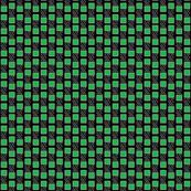 Green Squares White Stripes