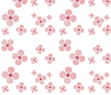 Pink Forget-Me-Nots fabric by twigsandblossoms on Spoonflower - custom fabric