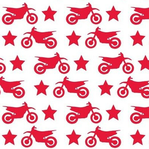 Dirt Bike and Star Red