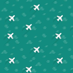 airplanes on teal