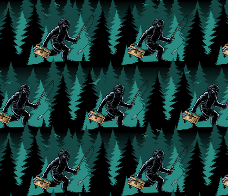 Where have all the Bigfoot gone fabric by mariafaithgarcia on Spoonflower - custom fabric