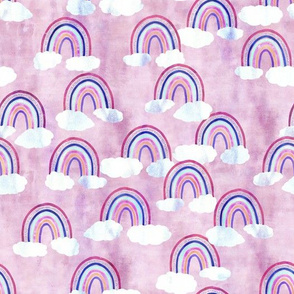 just rainbows pink