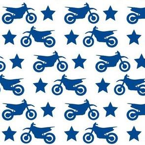 Dirt Bike and Star Blue