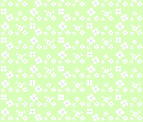 Forget-Me-Nots in the grass fabric by twigsandblossoms on Spoonflower - custom fabric
