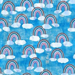 just rainbows turquoise