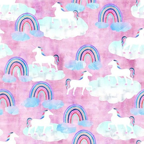 rainbows _ unicorns pink