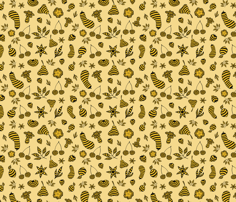 Bee-Solidarity-Parade fabric by pearlposition on Spoonflower - custom fabric