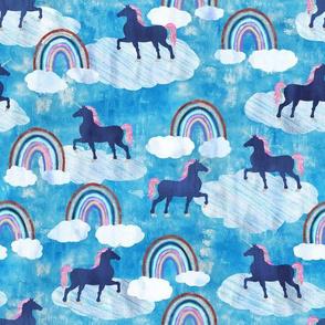 rainbows _ unicorns turquoise