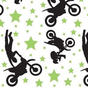 Dirt Bike Tricks Black and Green