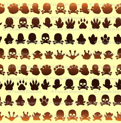 Animal footprint skulls