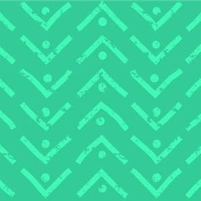 Turquoise Chevron Dot