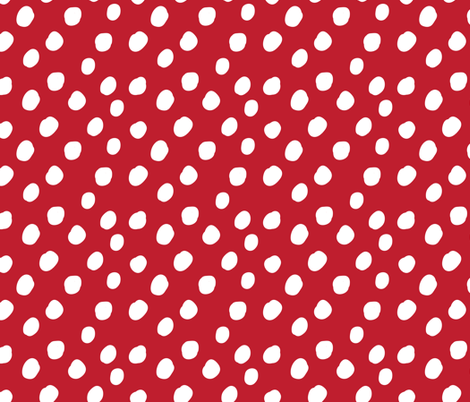 LARGE Anaheim Red and White Polka Dots fabric by alexazurcher on Spoonflower - custom fabric