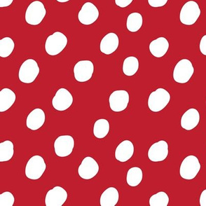 LARGE Anaheim Red and White Polka Dots