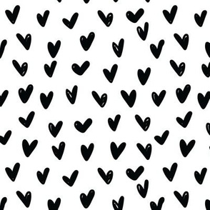 LARGE Black and White Hearts Anaheim