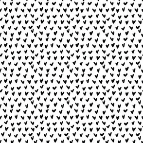 SMALL Black White Hearts Anaheim