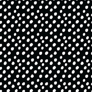 SMALL Black White Polka Dots Anaheim