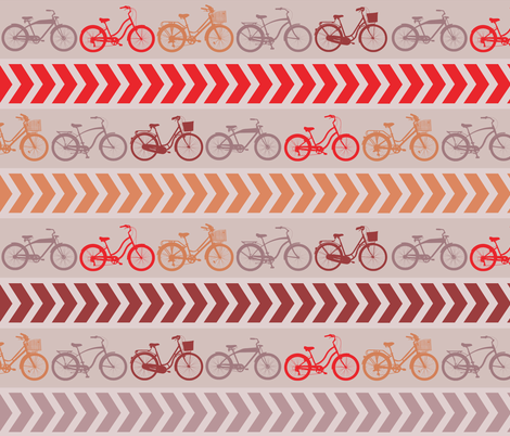Beach Cruiser Retro Stripe fabric by run_quiltgirl_run on Spoonflower - custom fabric