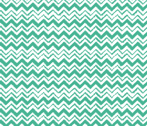Wild and Free Teal simple chevron  fabric by esther_loopstra_illustration on Spoonflower - custom fabric