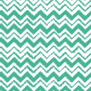 Wild and Free Teal simple chevron
