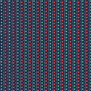 Wild and Free navy, red, teal dot and stipe