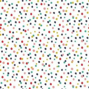 Wild and Free confetti dots in red, yellow, blue and pink
