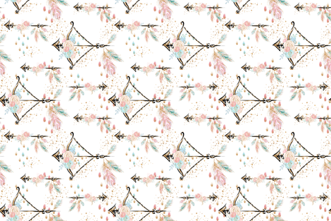 Boho Floral Arrows fabric by comfybabyboutique on Spoonflower - custom fabric