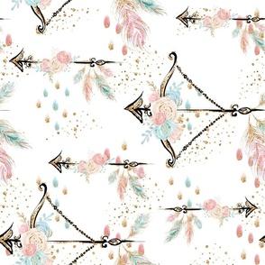 Boho Floral Arrows