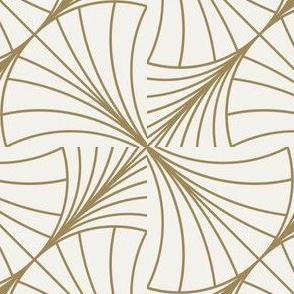 Round Wave Gold on White