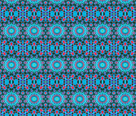 Floating Blue Lotus fabric by just_meewowy_design on Spoonflower - custom fabric