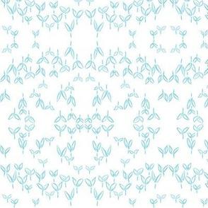 Asian Blue Crops (white)