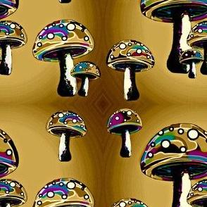 Tan psychedelic mushrooms
