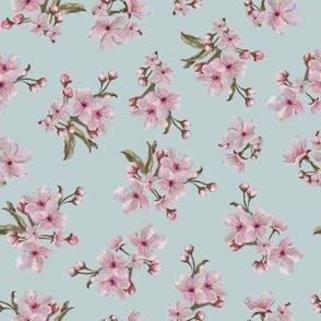 Sakura Inflorescence Pattern on BLUE