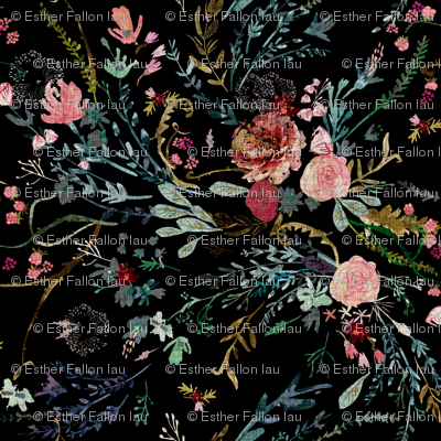 Fable Floral (black) JUMBO