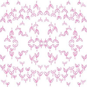 Asian Pink Crops (white)
