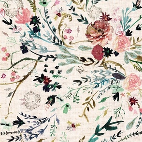 Fable Floral (blush) JUMBO