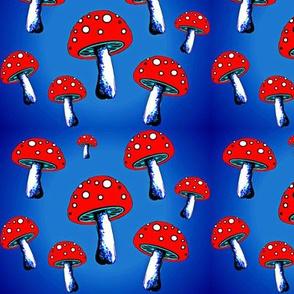 Red blue mushroom