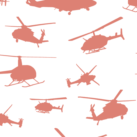 Pink Helicopter Silhouettes // Large fabric by thinlinetextiles on Spoonflower - custom fabric