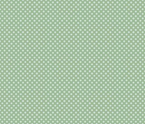 shaped dots - light teal on green fabric by silberfuchs-design on Spoonflower - custom fabric