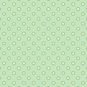 shaped dots - light green on green