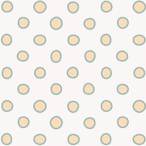 shaped dots big - yellow on light beige