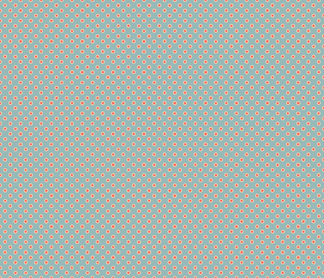 shaped dots - red on teal fabric by silberfuchs-design on Spoonflower - custom fabric