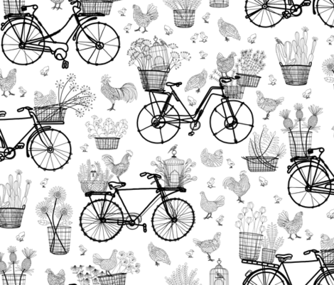 Bicycles for Africa 18x18 fabric by stitchyrichie on Spoonflower - custom fabric