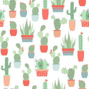 cactus garden - transparent background