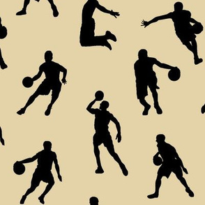 Basketball Players on Tan // Large