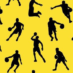Basketball Players on Lemon Yellow // Large