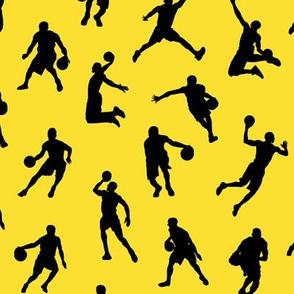 Basketball Players on Lemon Yellow // Small