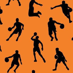 Basketball Players on Orange // Large