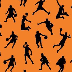 Basketball Players on Orange // Small
