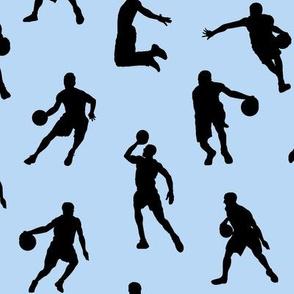 Basketball Players on Light Blue // Large