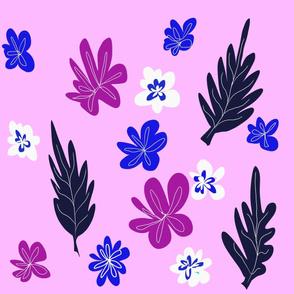 Bright,cheerful floral,leaf pattern